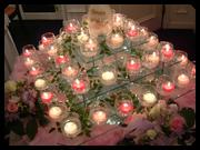 ピラミッドシャンデリア卵型メインキャンドル ゲスト・ご両親参加や2次会使用にもOK!