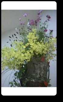 生花のフラワーオブジェ¥30,000