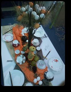 卵とテーブル