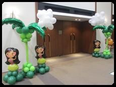 私たちがお出迎え🎵ヤシと雲付(高さ3m¥42,000 泉ガーデンギャラリー