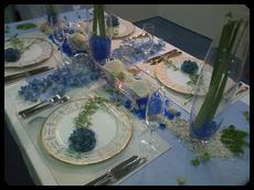 blue flowers貝殻・ガラス器5点付¥28,000