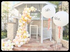 花とバルーンとMr.Mrs.