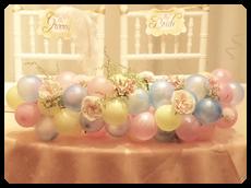メインテーブル造花&バルーン