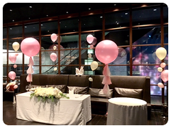 可愛いピンクの空間演出