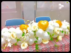バラとバルーンアレンジ